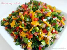 thai mango salad - Danielle Felip   Enlightened Life