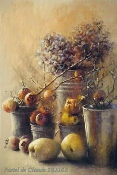 Enjoy a special gallery of Claude Texier's subtle and moody pastel paintings. Soft Pastel Art, Pastel Drawing, Painting Still Life, Still Life Art, Easy Paintings, Watercolor Paintings, Pastel Paintings, Pinturas Color Pastel, Flower Artwork