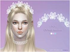 The Sims Resource: Wreath headdress 01 by S-Club • Sims 4 Downloads