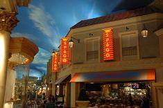 The patio at Spago Las Vegas