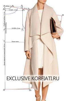 Coat Patterns, Dress Sewing Patterns, Clothing Patterns, Skirt Sewing, Skirt Patterns, Blouse Patterns, Look Fashion, Hijab Fashion, Fashion Dresses