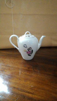 Caffettiera porcellana-caffettiera dipinta a mano-caffettiera