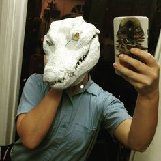 Before work I just had to take a #selfie with my new croc mask from…