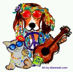 PEACE DOG & CAT