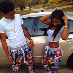 18 cute matching outfits for black couples Cute Couples Teenagers, Cute Black Couples, Black Couples Goals, Cute Couples Goals, Couple Goals, Matching Couple Outfits, Matching Couples, Matching Couple Pajamas, Selfies
