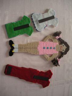 "Plastic Canvas ""Paper Doll"" Wardrobe 2"