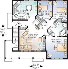 2516 sf, 36x38, 6-2-0, 2 story, duplex