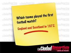 Which teams played the first football match?