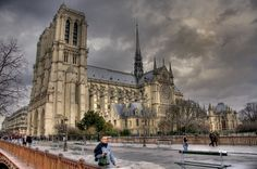 Another view of the iconic Notre Dame Cathedral. It's one of the coolest cathedrals I've ever been in.
