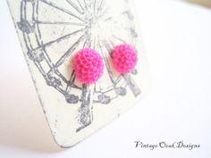 Spring Carnival Earrings  Mini Mum earrings by VintageOoakDesigns, $5.00