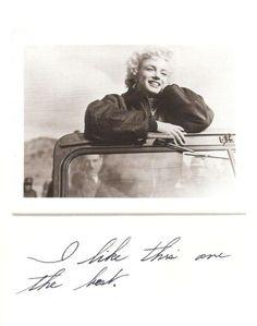 from Joe DiMaggio's photos. Marilyn's handwriting.