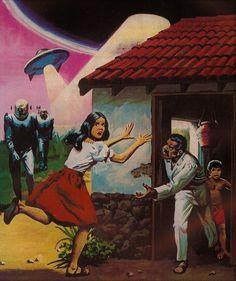 Art by Luis Dominguez Horror Comics, Marvel Comics, Close Encounters, Comic Art, Comic Books, Sci Fi Art, Old Photos, Thriller, Science Fiction