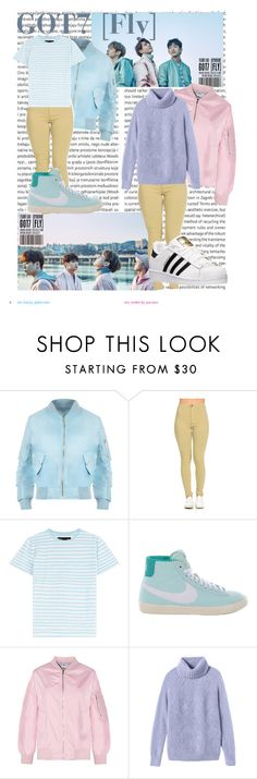"""Got7 Inspired Outfits"" by pandagirl2102 ❤ liked on Polyvore featuring Oris, WearAll, Marc by Marc Jacobs, NIKE, Rebecca Taylor and adidas"