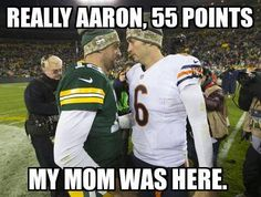 ....no words for how hilarious this is! Just remember is wasn't just Aaron, Matt Flynn played QB too