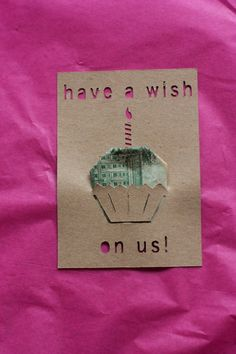 """Clever way to send money in a card. Pinner wrote, """"I love this girl's blog."""""""