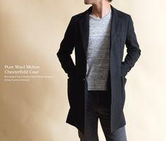 Audience/オーディエンス ピュアウールメルトンチェスターコート  贅沢な素材感でワンランク上のおしゃれを
