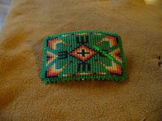 loom beaded Native American inspired barrette on Wanelo