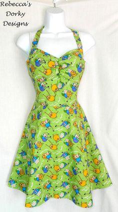 Adventure Time dress. Measurements in description