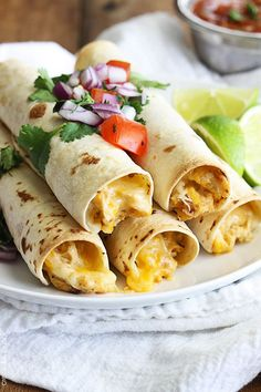 Slow Cooker Cream Cheese Chicken Taquitos countryliving