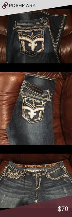 Rock Revival Jeans. Size 30 Worn 5 times. Pretty much new. They look new. Suppose to be a regular length. They are actually between 30-31 inseam. Serena Easy Boot. Rock Revival Jeans Boot Cut