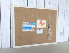 White bulletin board  cottage chic  framed by YouMatterDesigns