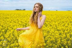 Yellow Madonna Dress by Sea Gypsy.