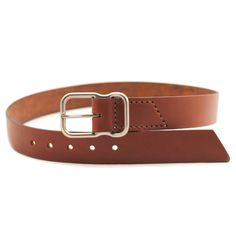 EE Signature Leather Belt - Chestnut Brushed Nickel - Emil Erwin