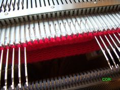 How to do short rows on a knitting machine on both sides