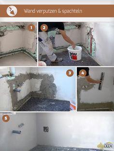 Werden Räume mit neuen Leitungen, Rohren oder Ähnlichem ausgestattet, sind die Wände meist nicht wiederzuerkennen. Große Hohlräume in der Wand müssen daher vor dem Streichen durch Verputzen und Spachteln geschlossen werden. Während es bei kleineren Arbeiten mit ein wenig Spachteln getan ist, ist in besagtem Fall das Verputzen unausweichlich. Mit den richtigen Kniffen ist aber selbst das Verputzen und Spachteln einer Wand selbst für den Hobby-Heimwerker problemlos zu bewerkstelligen.
