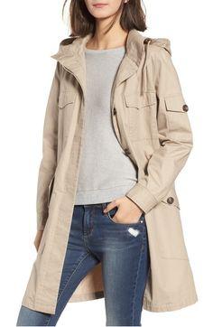Noah Water Repellent Cotton Twill Coat
