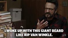 ifc marc maron maron rip van winkle i woke up with this giant beard like rip van winkle trending #GIF on #Giphy via #IFTTT http://gph.is/28ORC1n