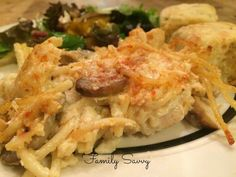 Chicken Tetrazzini: This rich, cheesy dish draws raves every time and is make ahead and freezer friendly.