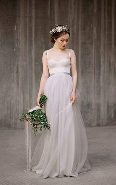 Bride wearing cropped top
