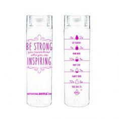 Pink Motivational Water Bottle® - Motivational Bottle
