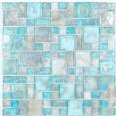 patterned sea glass tile