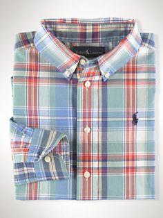 Cotton Plaid Blake Shirt - Sport Shirts  Boys 2–7 - RalphLauren.com