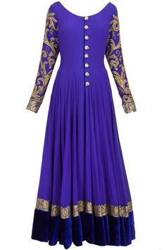 to order this dress whatsapp Royal blue embroidered anarkali Indian Anarkali, Red Lehenga, Anarkali Dress, Anarkali Suits, Lehenga Choli, Long Anarkali, Indian Attire, Indian Wear, Pakistani Outfits