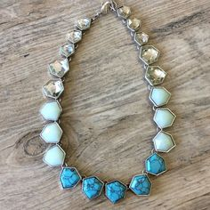 ⚠️ FLASHSALE 🆑LAST1 🆕 Statement Necklace This piece features turquoise and and a beautiful blue resin to reflect the iridescent shores of a world away. Hypoallergenic, lead and nickel free. *Matching brcelet is available in another listing *Matching earrings are available in another listing. Ocean Jewelers Jewelry