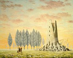 The Enchanted Domain Le Domaine Enchante 1957 Rene Magritte (1898-1967 Belgian) Oil On Canvas Christie's Images, New York, USA