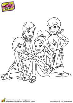 A colorier les membres de la famille delajungle r unis - Jeux polly pocket gratuit ...