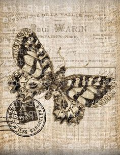 1000+ images about STAMPEVINTAGE on Pinterest | Printable butterfly, Music sheets and Sheet music