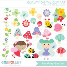 The Fairy Garden Clip Art / Digital Clipart  by MyClipArtStore, $3.99