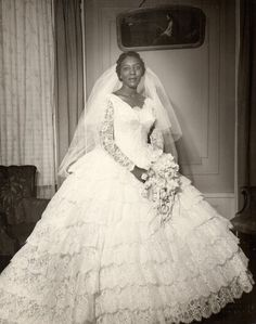 Everyday Life in the Past     , Bride, circa 1950s.