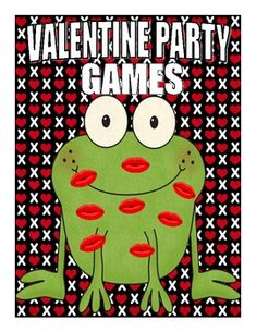 Valentine Party Games $...I love he idea of kissing a frog! kiss, party games, idea, frog, parties, parti game, valentin parti, kid, valentine party