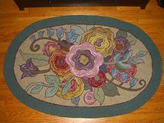 free rug hooking patterns | Grandpa's Garden