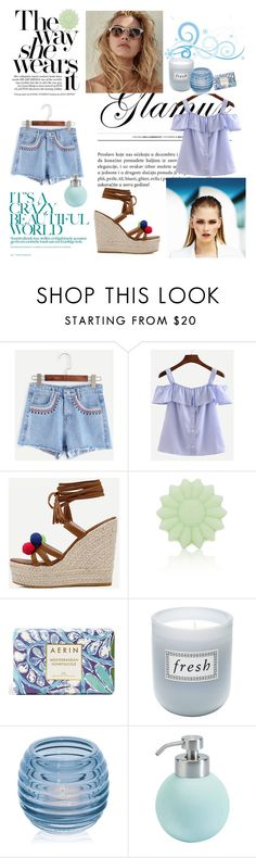 """""""Romwe 2"""" by amra-f ❤ liked on Polyvore featuring MISCHA, Tocca, Estée Lauder, Fresh, Dartington Crystal and Aquanova"""