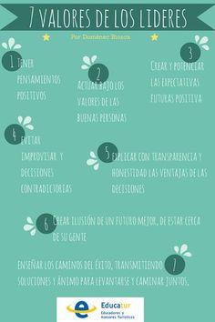 7 Valores que tiene un gran líder #liderazgo #estudiantes #umayor