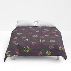Romantic roses Comforters Outdoor Floor Cushions, Floor Pillows, Rose Comforter, Jungle Pattern, Folding Stool, Throw Blankets, Love Design, Pillow Shams, Beach Towel
