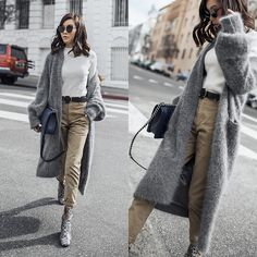 Get this look: http://lb.nu/look/8595123  More looks by Jenny Tsang: http://lb.nu/tsangtastic  Items in this look:  By Tsang Fuzzy Cardigan Coat   #chic #classic #minimal