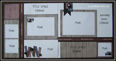 Pre-cut Pre-stamped Close to my Heart Layout Page Kit 2 12 X 12 w/ CTMH DAKOTA. $8.50, via Etsy.